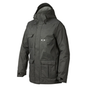 Oakley Cottage Mens Insulated Ski Jacket, Jet Black, medium