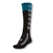 Point6 Christie Light Womens Ski Socks, Black-White, medium