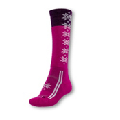 Point6 Christie Light Womens Ski Socks, Lipstick-White, medium