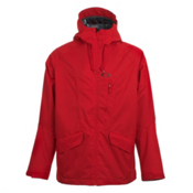 Oakley Mission Mens Insulated Ski Jacket, Red Line, medium
