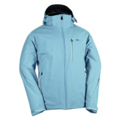 KJUS Formula Mens Insulated Ski Jacket, Jade-White, medium