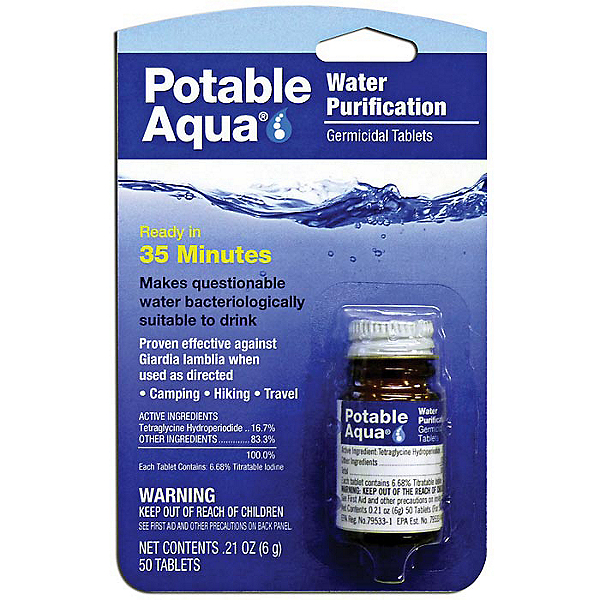 Portable Aqua Emergency Water Tablets, , 600