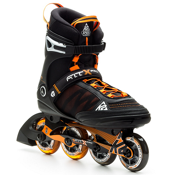 K2 Fit X Pro Inline Skates, Black-Orange, 600