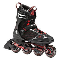 K2 F.I.T. 80 Inline Skates, Black-Red, 256