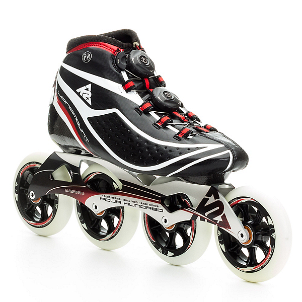 K2 Pro Longmount Race Inline Skates, Black-Red-White, 600