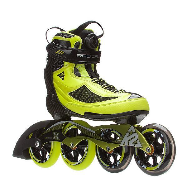 K2 Radical X Boa Inline Skates, Lime-Black, 600