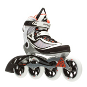K2 Radical 100 Womens Inline Skates 2016, White-Silver-Orange, medium