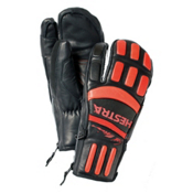 Hestra Seth Morrison 3-Finger Pro Gloves, Black-Flame Red, medium
