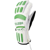 Hestra Seth Morrison 3-Finger Pro Gloves, Off White-Light Green, medium