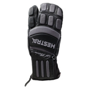 Hestra Seth Morrison 3-Finger Pro Gloves, Black-Grey, medium