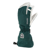 Hestra Heli 3 Finger Gloves, Bottle Green, medium