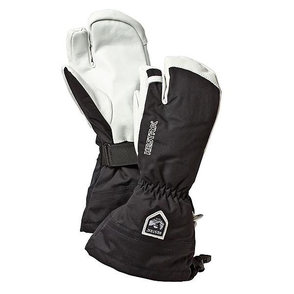 Hestra Heli 3 Finger Gloves, Black, 600