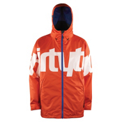 ThirtyTwo Lowdown Mens Shell Snowboard Jacket, Orange, medium