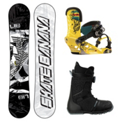 Lib Tech Skate Banana Complete Snowboard Package, 159cm, medium
