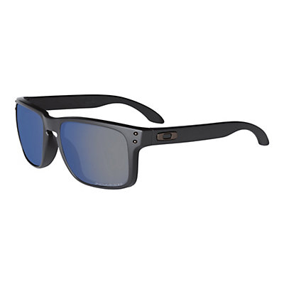 Oakley Holbrook Polished Black Sunglasses, Matte Black-Ruby Iridium Polarized, viewer