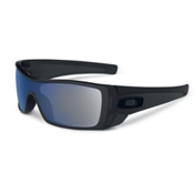 Oakley Batwolf Polarized Sunglasses, Matte Black-Ice Iridium Polarized, medium