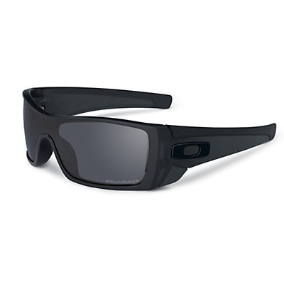 Oakley Batwolf Polarized Sunglasses, Matte Black-Black Iridium Polarized, viewer