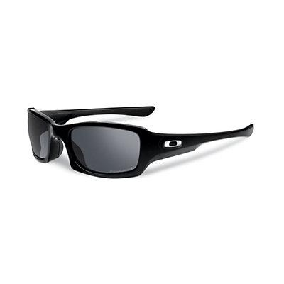 Oakley Fives Squared Polarized Sunglasses, Polished Black, large