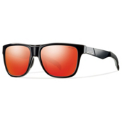 Smith Lowdown Sunglasses, Black-Red Sol X, medium