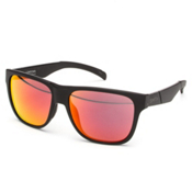Smith Lowdown Sunglasses, Matte Black-Red Sol X, medium