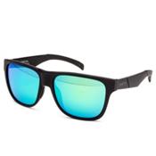 Smith Lowdown Sunglasses, Matte Black-Green Sol X, medium