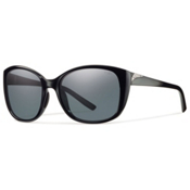 Smith Lookout Polarized Womens Sunglasses, Black-Polar Gray, medium