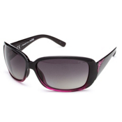 Smith Shorewood Polarized Womens Sunglasses, Black Violet Split-Polarized Gray Gradient, medium