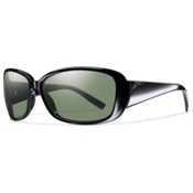 Smith Shorewood ChromaPop Womens Sunglasses, Black-Polar Gray Green, medium