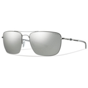 Smith Nomad ChromaPop Sunglasses, Matte Silver-Polarized Platinum, medium