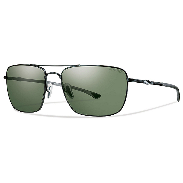 Smith Nomad ChromaPop Sunglasses, Matte Black-Polarized Gray Green, 600