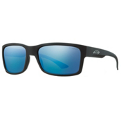 Smith Dolen ChromaPop Sunglasses, Matte Black-Polar Blue Mirror, medium