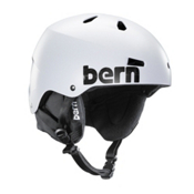 Bern Macon Hard Hat, Satin White Distress Logo, medium