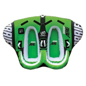 O'Brien Aero 2 Towable Tube, Green-White, medium