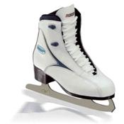 Roces RFG 1 Womens Figure Ice Skates, White-Blue, medium