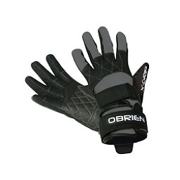O'Brien Competitor X-Grip Water Ski Gloves 2017, Grey-Black, 256