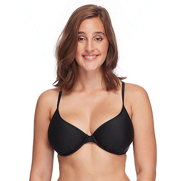 Body Glove Smoothies Solo Bathing Suit Top, Black, 600