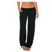 Body Glove Sami Pant Bathing Suit Cover Up, Solid Black, medium