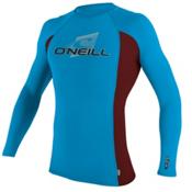 O'Neill Skins L/S Crew Mens Rash Guard, Sky-Myers-Sky, medium
