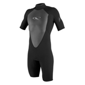 O'Neill Hammer Short Sleeve Spring Shorty Wetsuit 2017, Black-Black-Black, medium