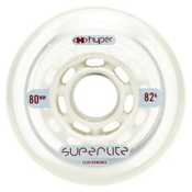 Hyper Superlite Inline Skate Wheels - 4 Pack, Clear, medium