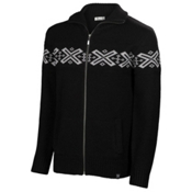 Neve Designs Ryan Full Zip Mens Sweater, Black, medium