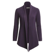 Neve Designs Christine Wrap Cardigan Womens Sweater, Grape, medium