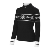 Neve Designs Joy Ice Crystals Zip Neck Womens Sweater, , medium