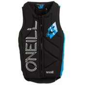 O'Neill Slasher Comp Adult Life Vest 2016, Black-Bright Blue, medium