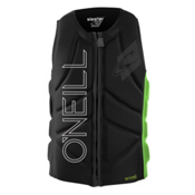 O'Neill Slasher Comp Adult Life Vest 2016, Black-Dayglo, medium