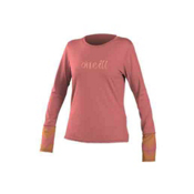 O'Neill Ziggy L/S Rash Tee, Light Coral-Light Coral Sorbet, medium