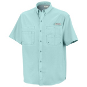 Columbia Tamiami II Short Sleeve Shirt, Gulf Stream, medium