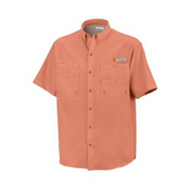 Columbia PFG Tamiani II Short Sleeve Shirt, Bright Peach, medium
