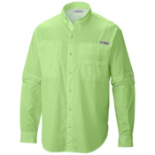 Columbia Tamiami II Long Sleeve Shirt, Jade Lime, medium