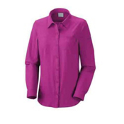 Columbia Insect Blocker Long Sleeve Womens Shirt, Groovy Pink, medium